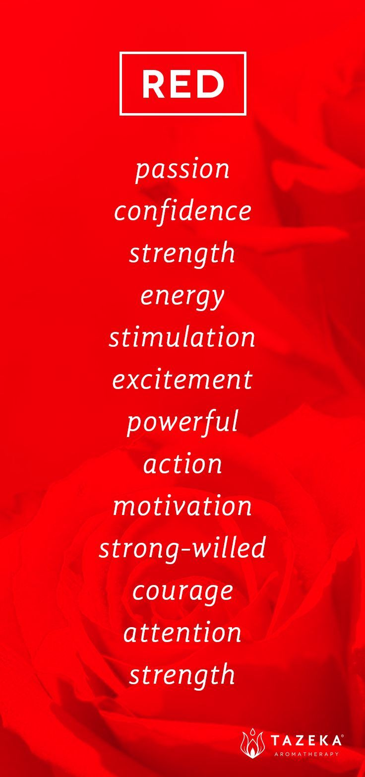 Tazekaaromatherapy colours pinterest red color psychology and