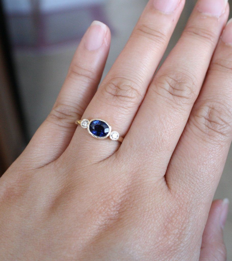 11+ Three stone engagement ring with plain wedding band info