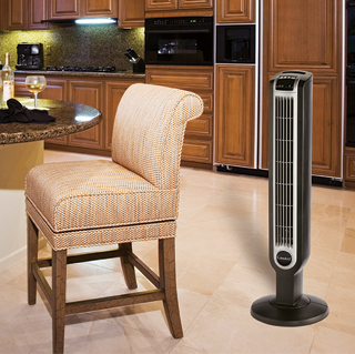 36″ Tower Fan with Remote Control features Smooth oscillation and