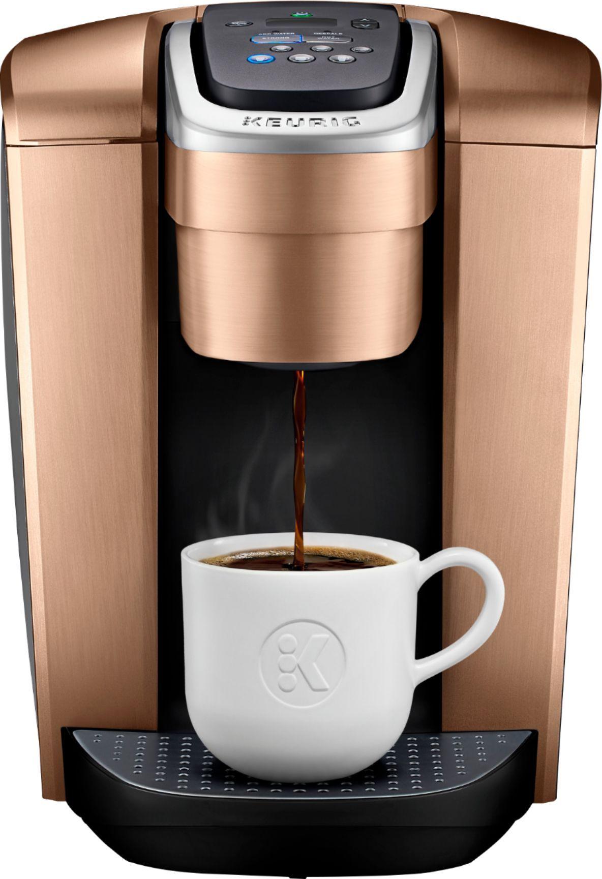 Keurig K Elite Single Serve K Cup Pod Coffee Maker Brushed Copper