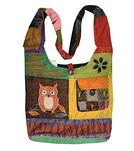 e009e5ce1d8 KayJayStyles Hippie Hobo Sling Cross body Front Pocket Owl Bag Nepal      Learn more by visiting the image link.