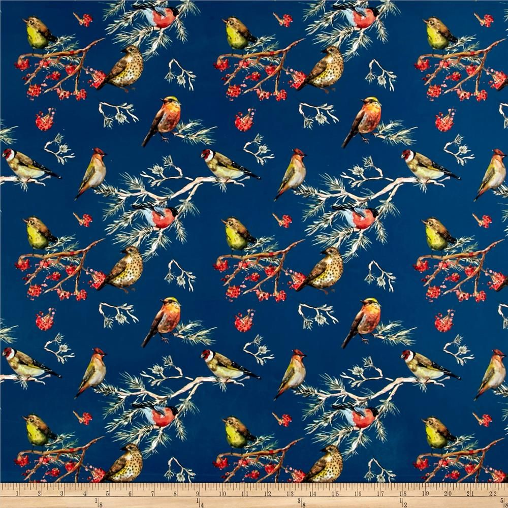 Pine Crest Fabrics Finch Party on Olympus Athletic Double Knit Multi ...
