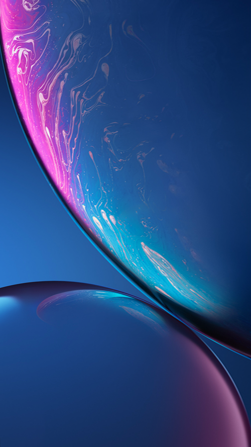 Download Original Apple iPhone XR Wallpaper 05 Blue