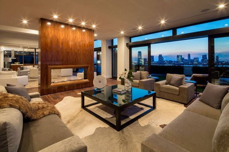 40 Million Dollar New York Penthouse Living Room New
