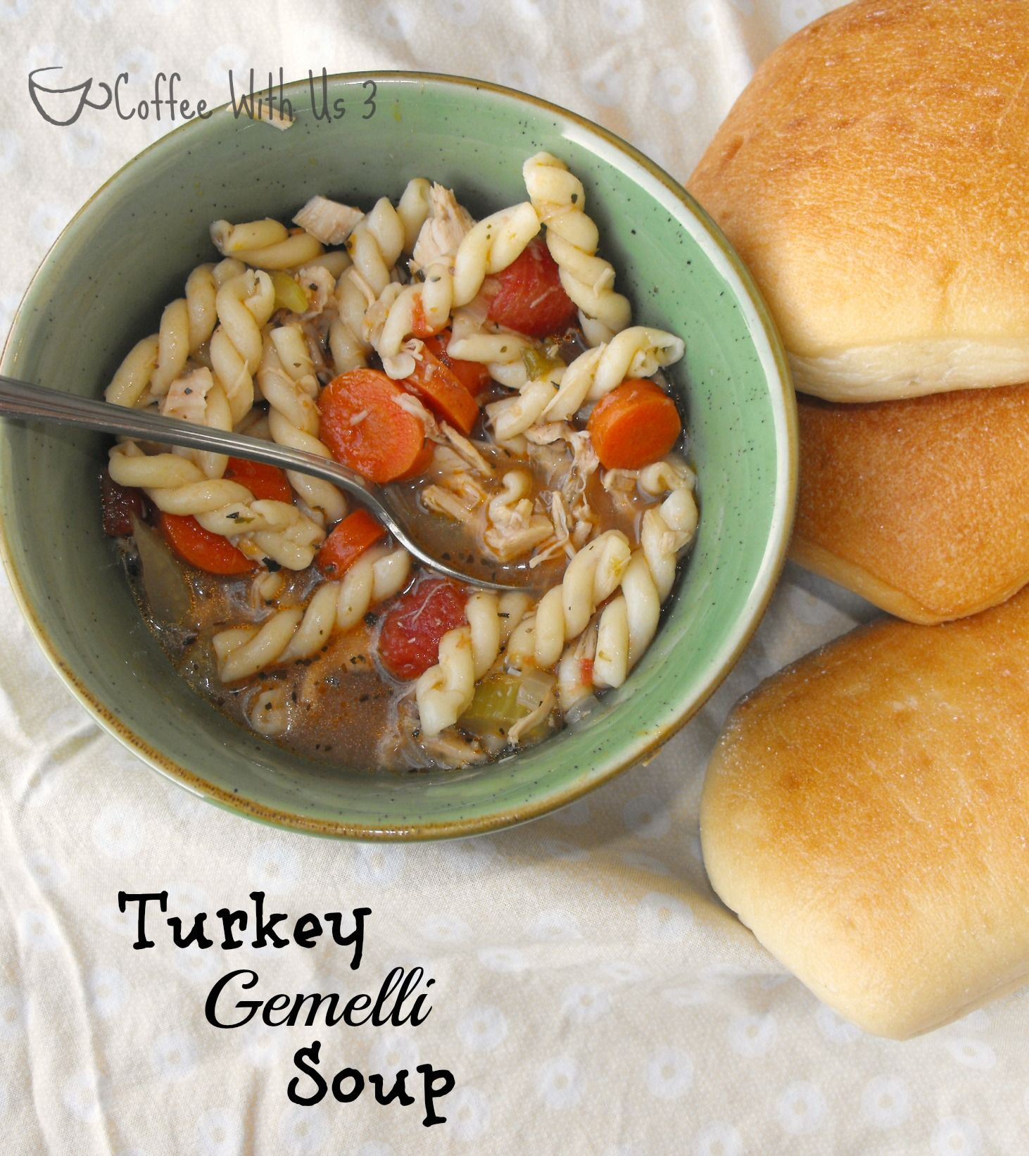 This hearty Turkey Gemelli Soup is sure to please during the cold winter months!
