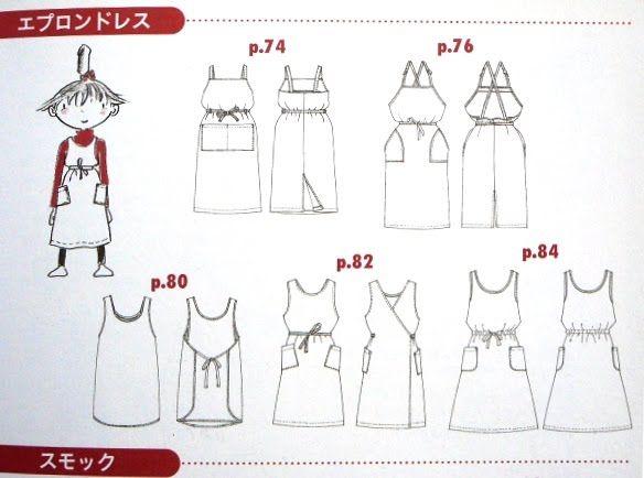 japanilaisia keittiöessuja. Nää solmitaan useimmiten taakse, ja on vähän mekkotyyppisiä. Näistä voisi kehitellä ruokalapulle korviketta, tai sitten arkisempia mekkoja ehkä..? apron7.JPG (584×434)
