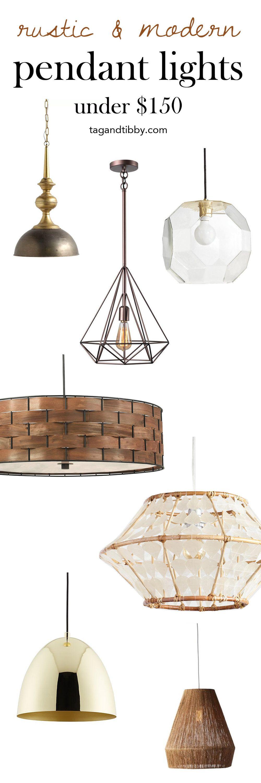 8 Modern Rustic Pendant Lights For
