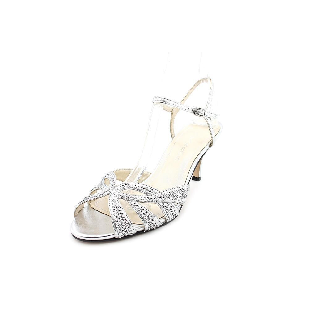 Caparros Heirloom Womens Size 6 Silver Dress Sandals Shoes New/Display  #Caparros #Strappy