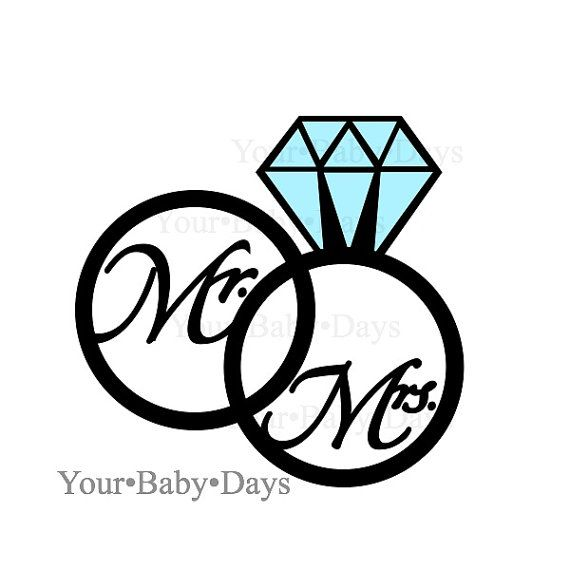 wedding rings svg files digital files circut cuttables clip rh pinterest com wedding bands clipart free wedding band clipart