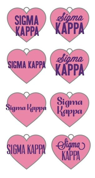 Help us DECIDE! Sigma Kappa key chains coming so soon BUT we need your help! Tell us which design you like best. (If you'd like one for your sorority contact us at info@greekgirlshop.com)