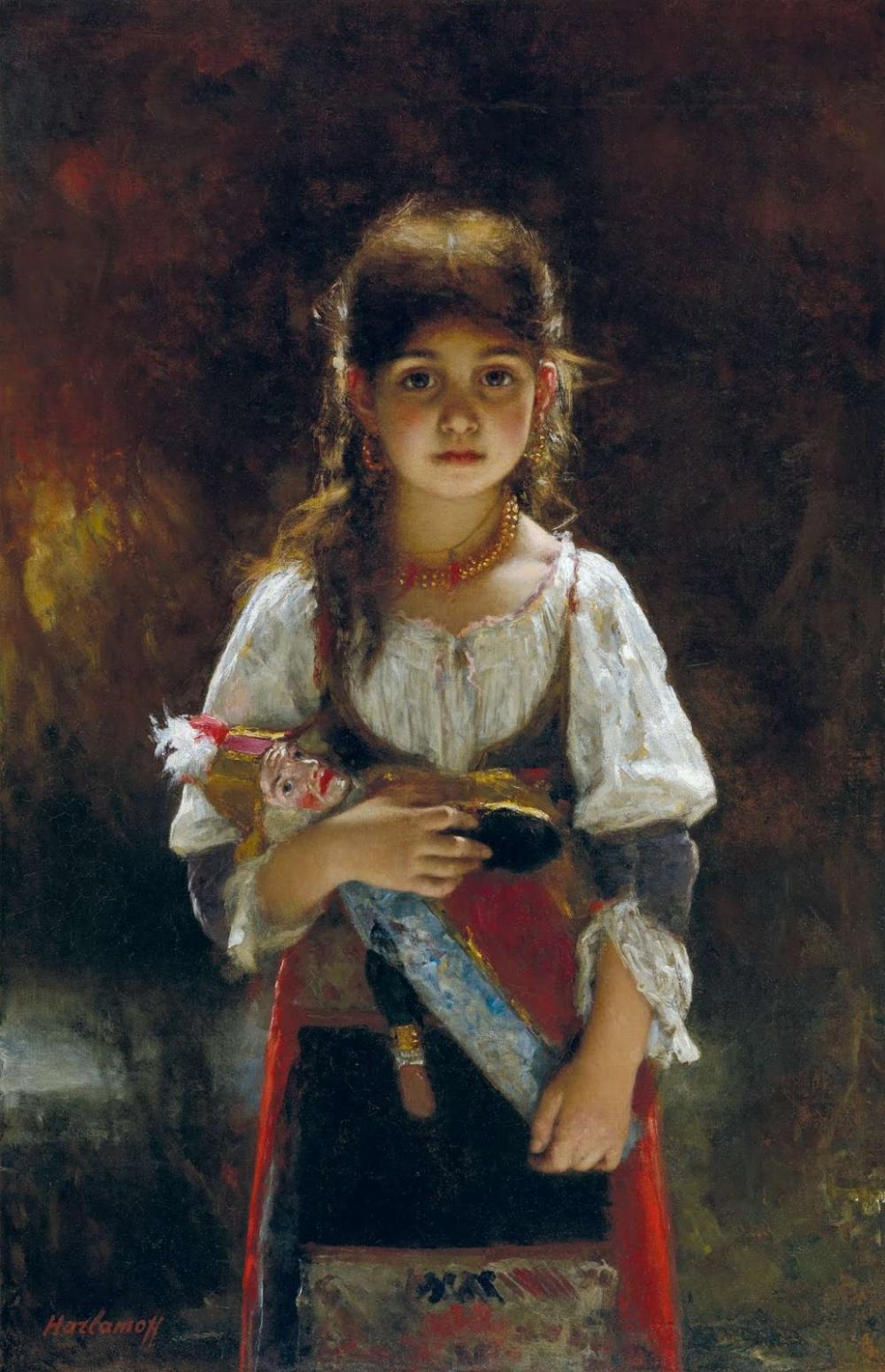 Alexei Harlamoff Art Figure Painting Realism Art