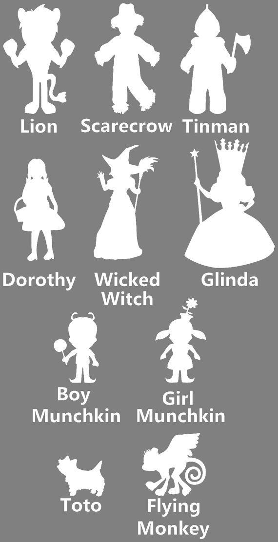 Wizard of Oz Family Car Sticker set of 4 by EpicFamilyDecals ...