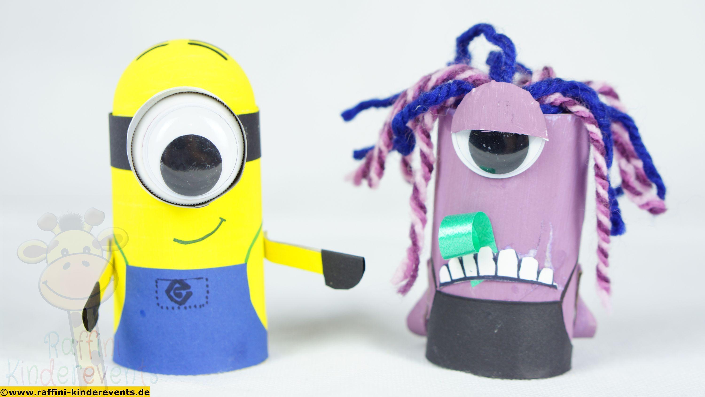 minions recycling crafts for kids, basteln idee fuer kinder, Gartenarbeit ideen