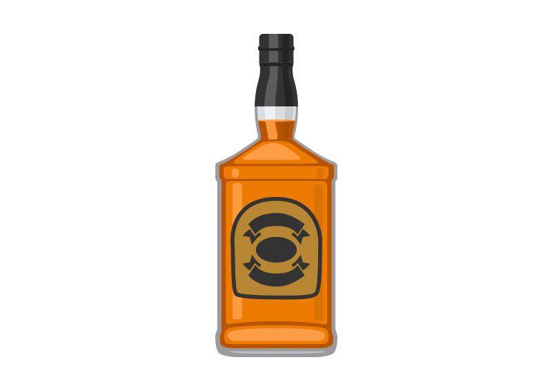 Whisky Bottle Free Vector Whisky Bottle Vector Free Whisky