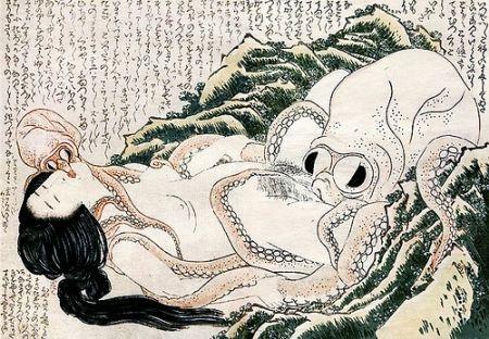 """Résultat de recherche d'images pour """"Hokusai (la plus célèbre : L'ama et le poulpe"""""""