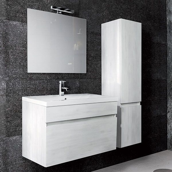 Arredo bagno iseo 90 larice bianco arredo bagno bianco for Montegrappa arredo bagno