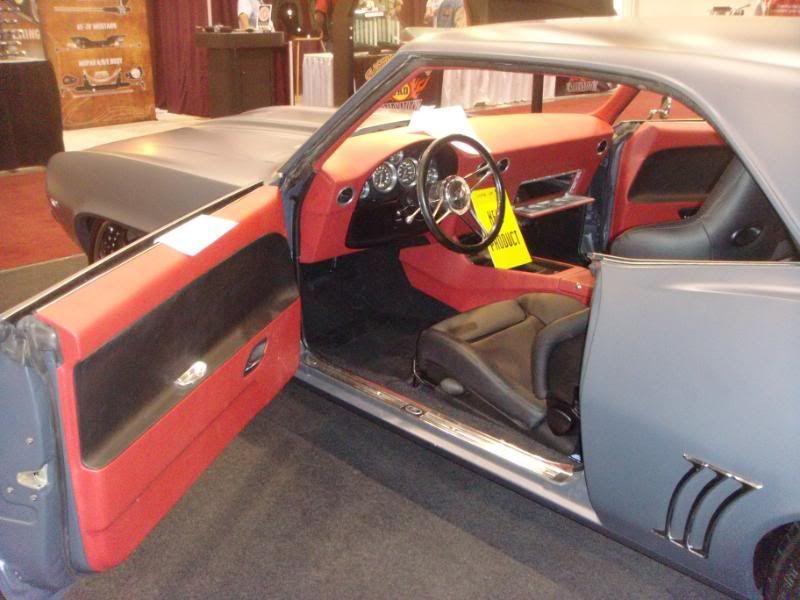 69 camaro red black billet grey custom dash door panels console silver - Marquez Design