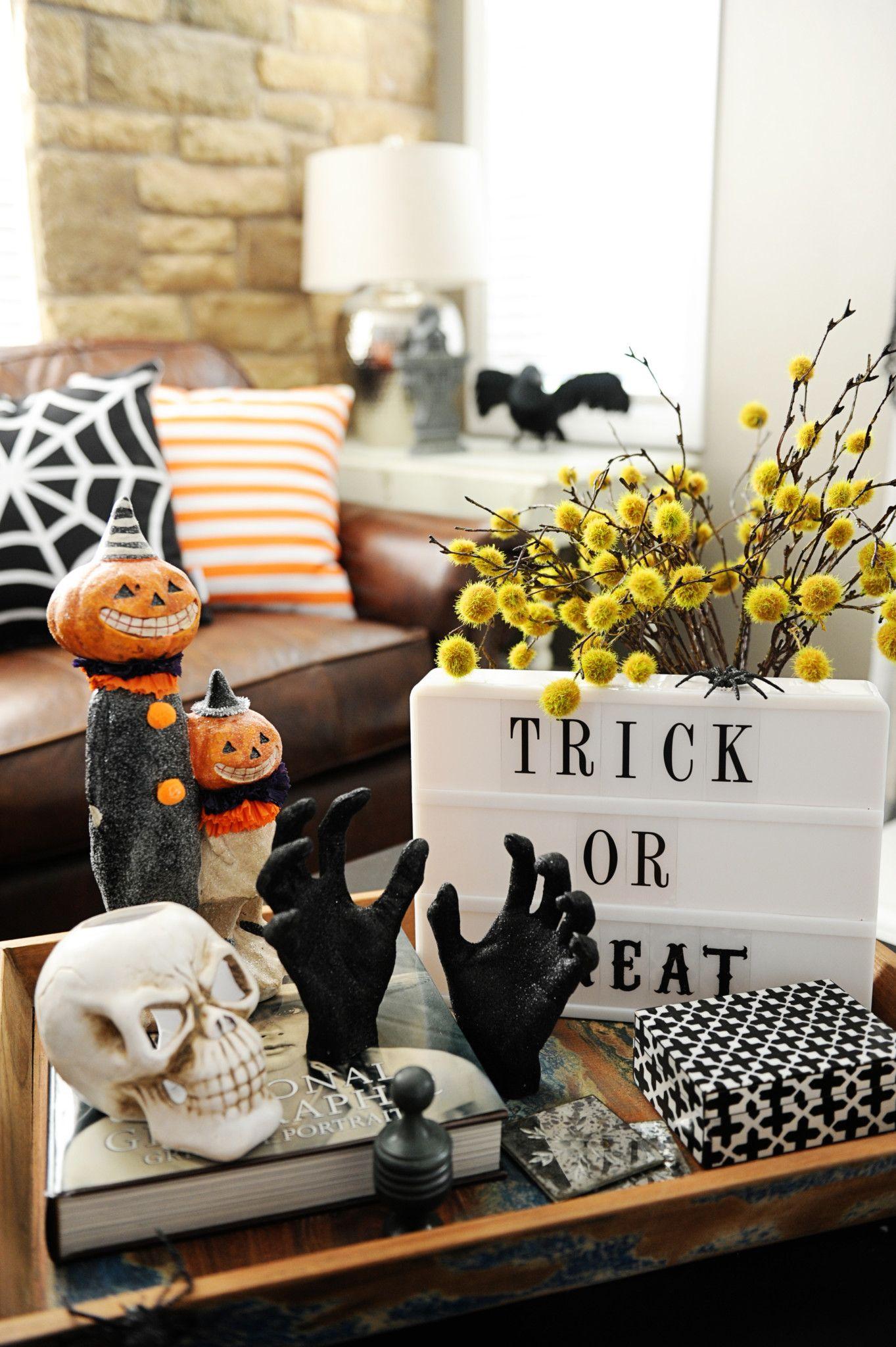 blogger halloween home tour diy dcoration automne halloween de lautomne maison