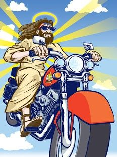 Jesus On Motorcycle Biker Art Motorcycle Art David Mann Art