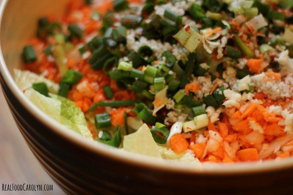 Simple Kimchi RecipeReal Food Carolyn