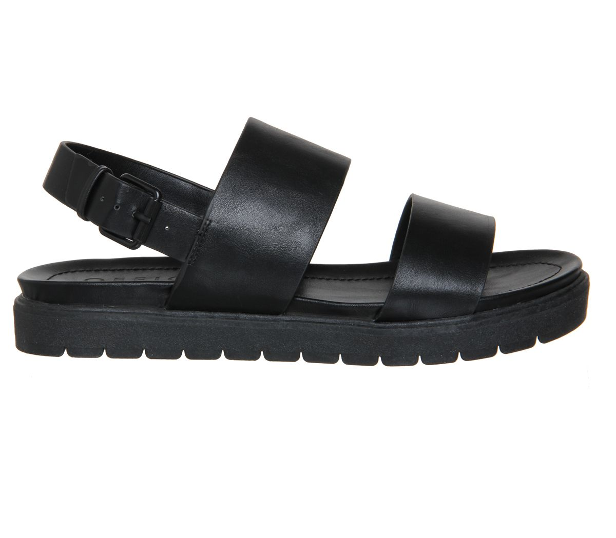 Office Optic Double Strap Sling Sandal Black - Sandals