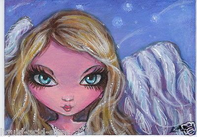 aceo print winter #white #angel #zombie big eyes fantasy #34 art liquid acid eye,  View more on the LINK: http://www.zeppy.io/product/gb/2/231446501520/