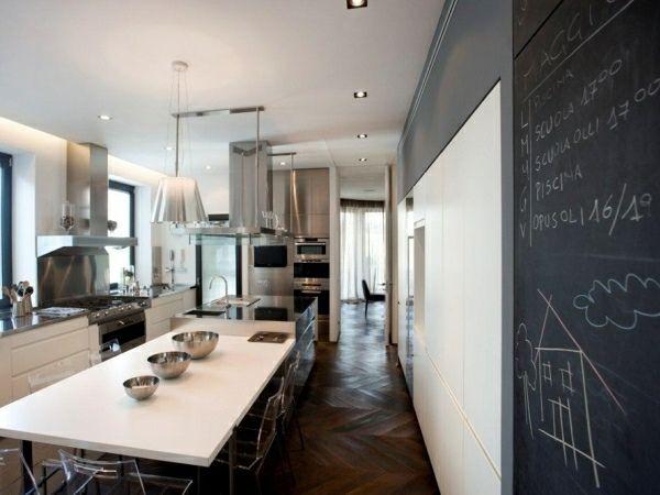 moderne kleine Küche schwarze Taffel Design Wohnzimmer Pinterest - küchenmöbel für kleine küchen