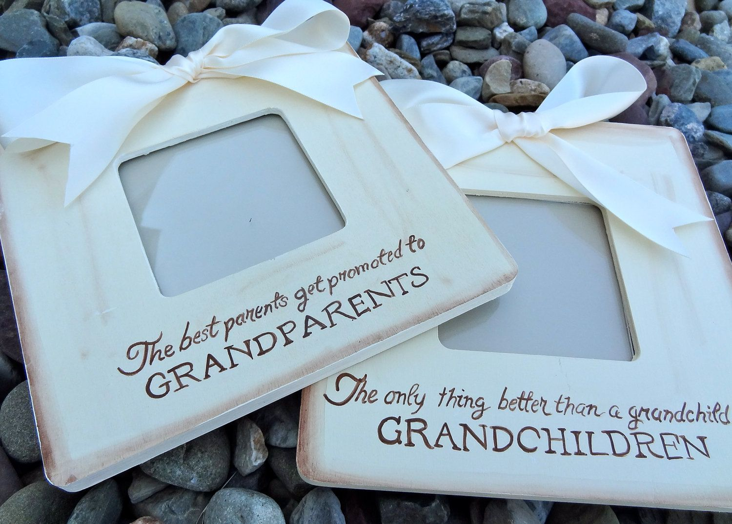 beige grandparents picture frame gift for grandparents i love you – Grandparents Announcement Baby