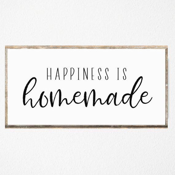 Happiness Is Homemade Printable Living Room Sign Bedroom Sign