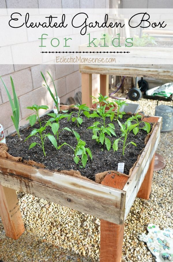 Get the kids into gardening by building an elevated garden box they ...