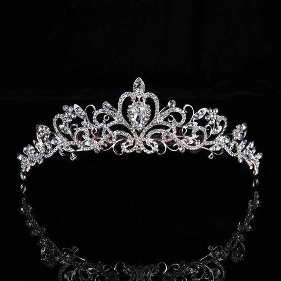 Princess Wedding Shiny Austrian Crystal Prom Party Hair Band Bridal Headband