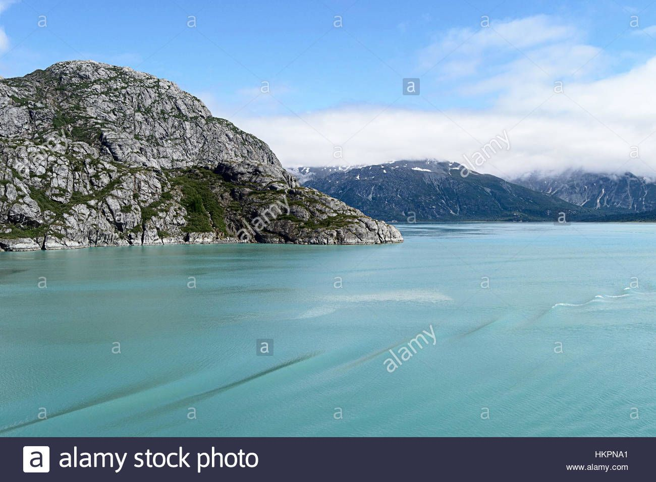 Download this stock image: Mountains and water of Glacier Bay National Park, Alaska - HKPNA1 from Alamy's library of millions of high resolution stock photos, illustrations and vectors.