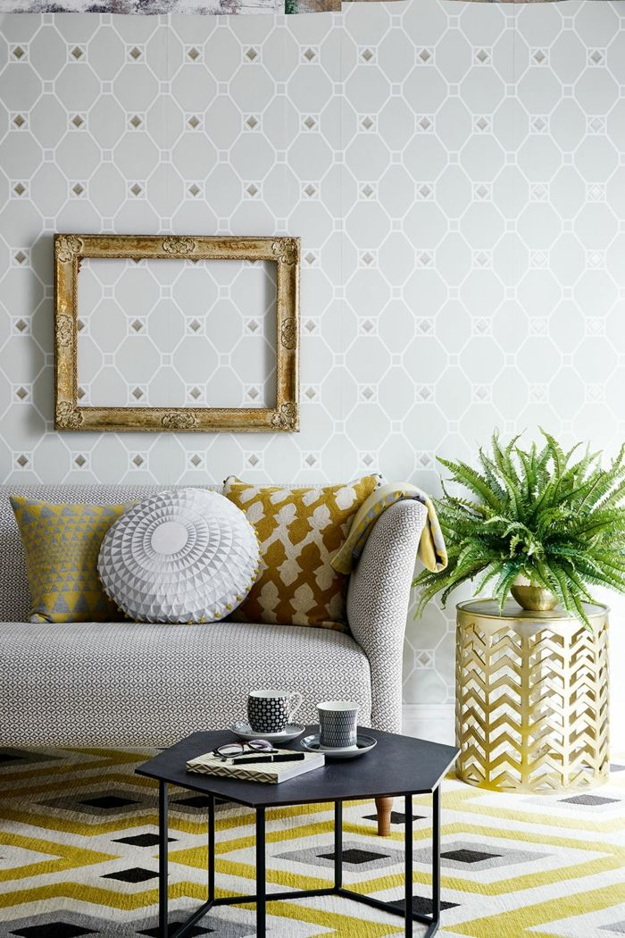 tapete muster wohnzimmer geometrische wandtapete wohnzimmerteppich - gardinen muster für wohnzimmer