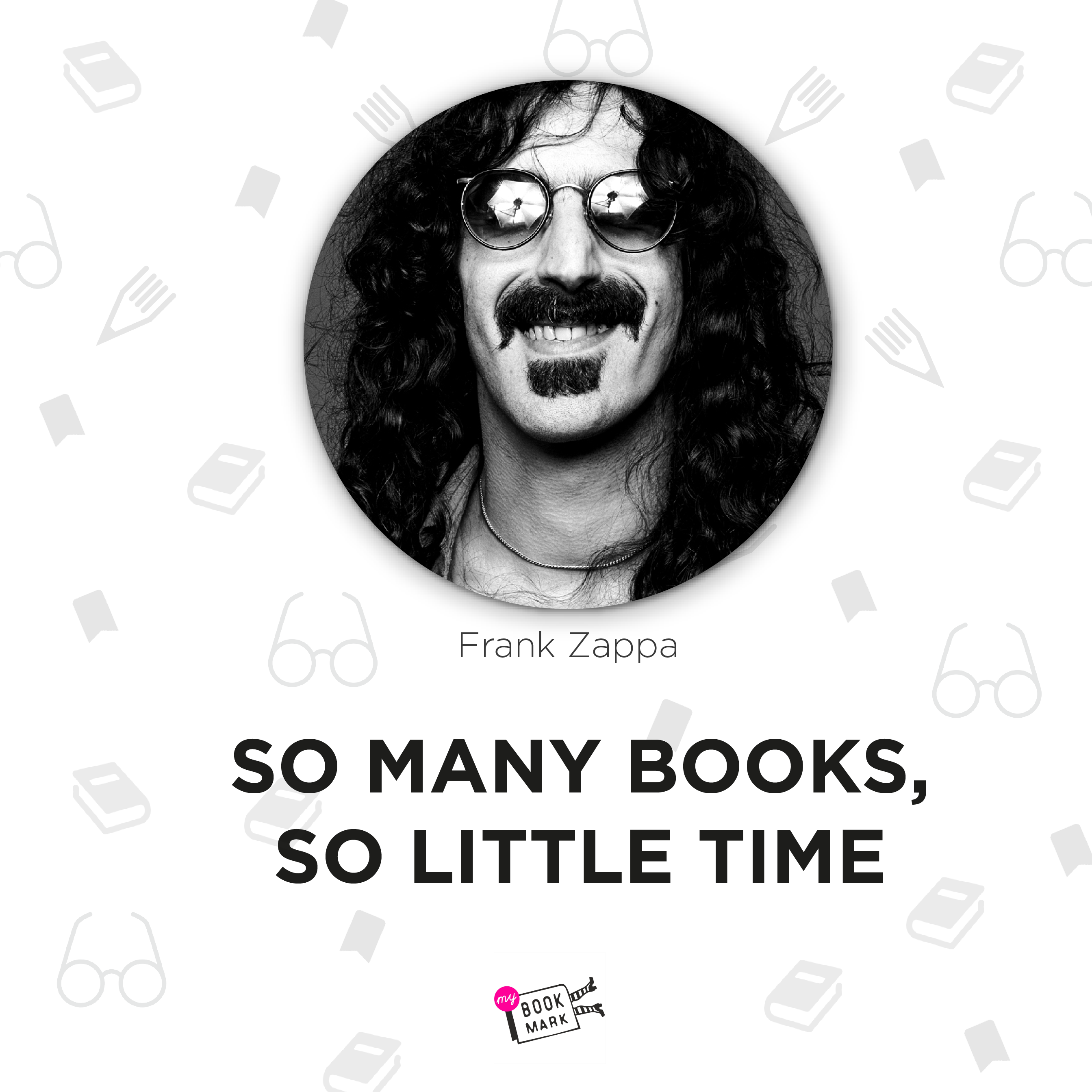 Frank Zappa - famous American singer about books www.mybookmark.etsy.com  #mybookmark