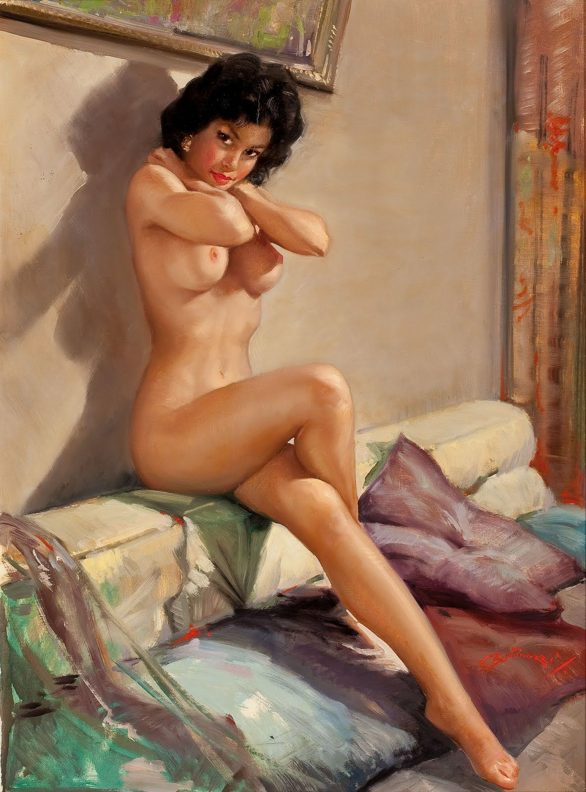 Fantasy Pin Up Girls Nude  Vintage Pin Up Girl  Comics -2221