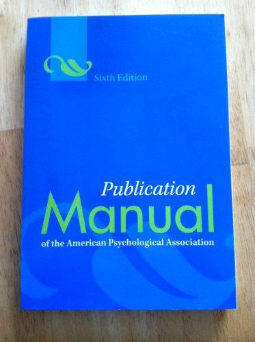 new edition publication manual pub manual of the american