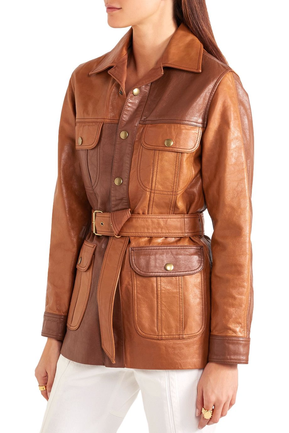 Shop onsale Chloé Belted leather jacket. Browse other
