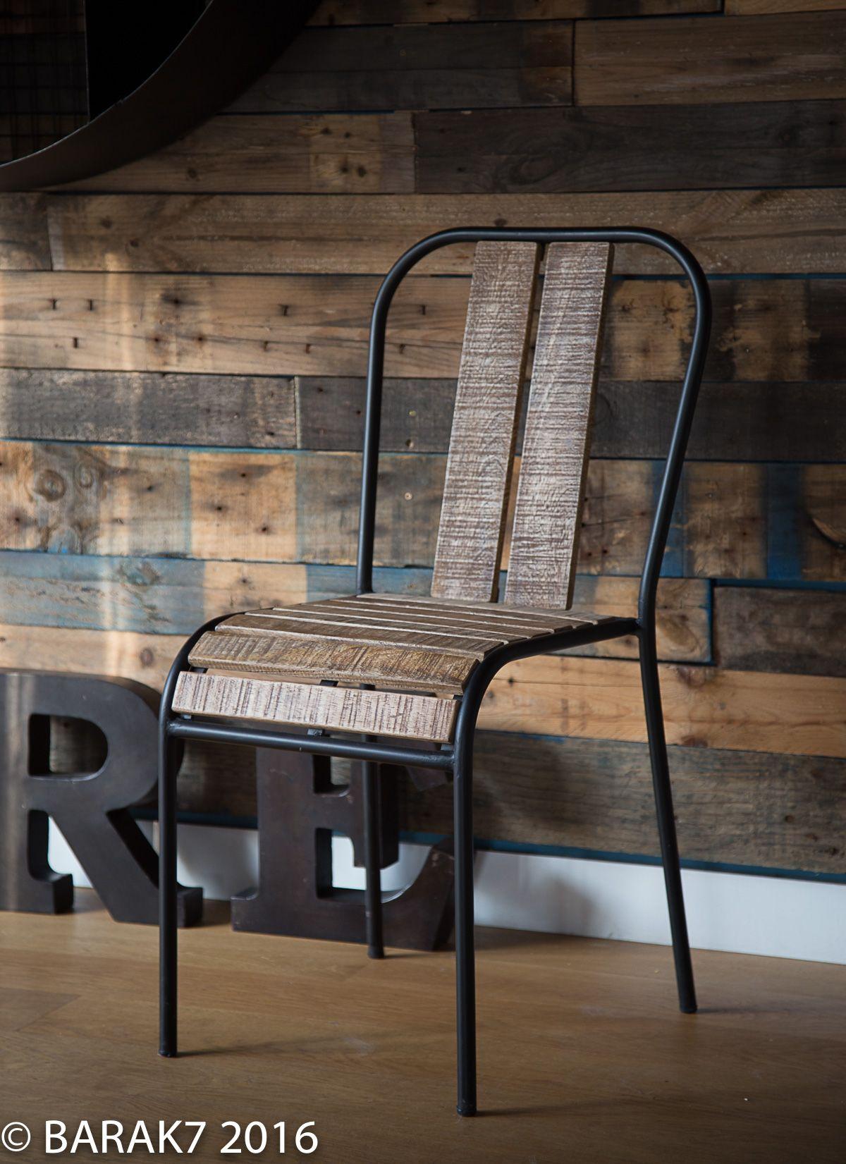 Chaise industrielle bistrot Sydney | Chaise industrielle