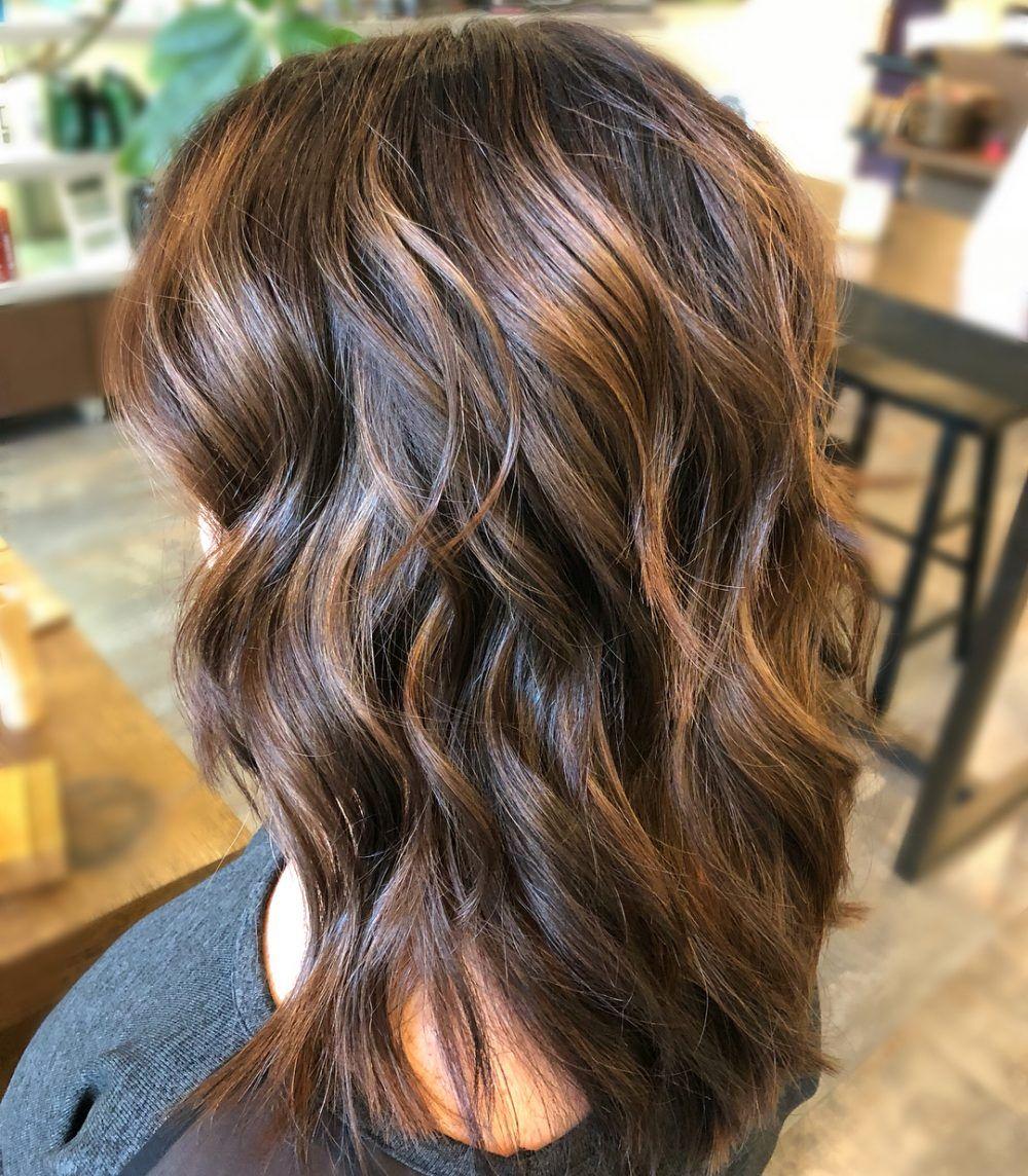 34 Sweetest Caramel Highlights On Light Dark Brown Hair Hair Color Highlights Brown Hair With Caramel Highlights Dark Brown Hair With Caramel Highlights