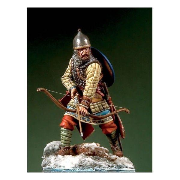 Russian Archer XIV century - Art Girona White Metal Figures