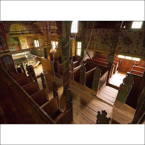 Interior of Uvdal Stave Church