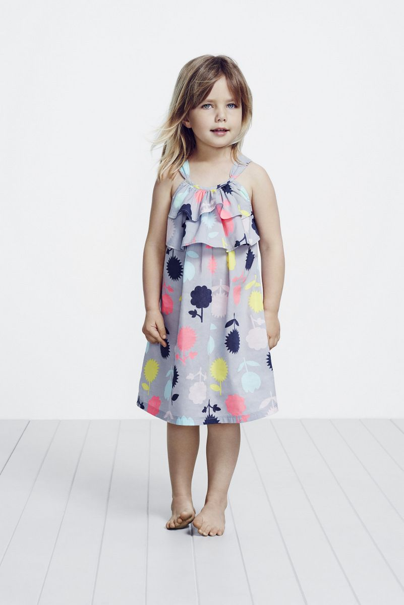 A perfect floral summer dress in cotton voile.  Kids summer