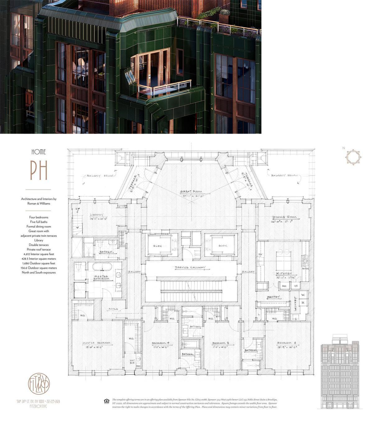 514 West 24th St Ph In West Chelsea Manhattan Streeteasy Floor Plans Pent House Condominium