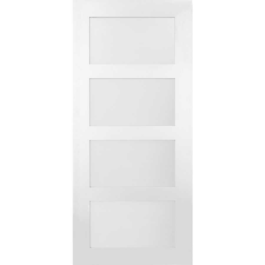 Masonite 36 In X 84 In Primed 3 Lite Equal Solid Wood: Masonite Solid Core 4-Lite Frosted Glass Barn Interior