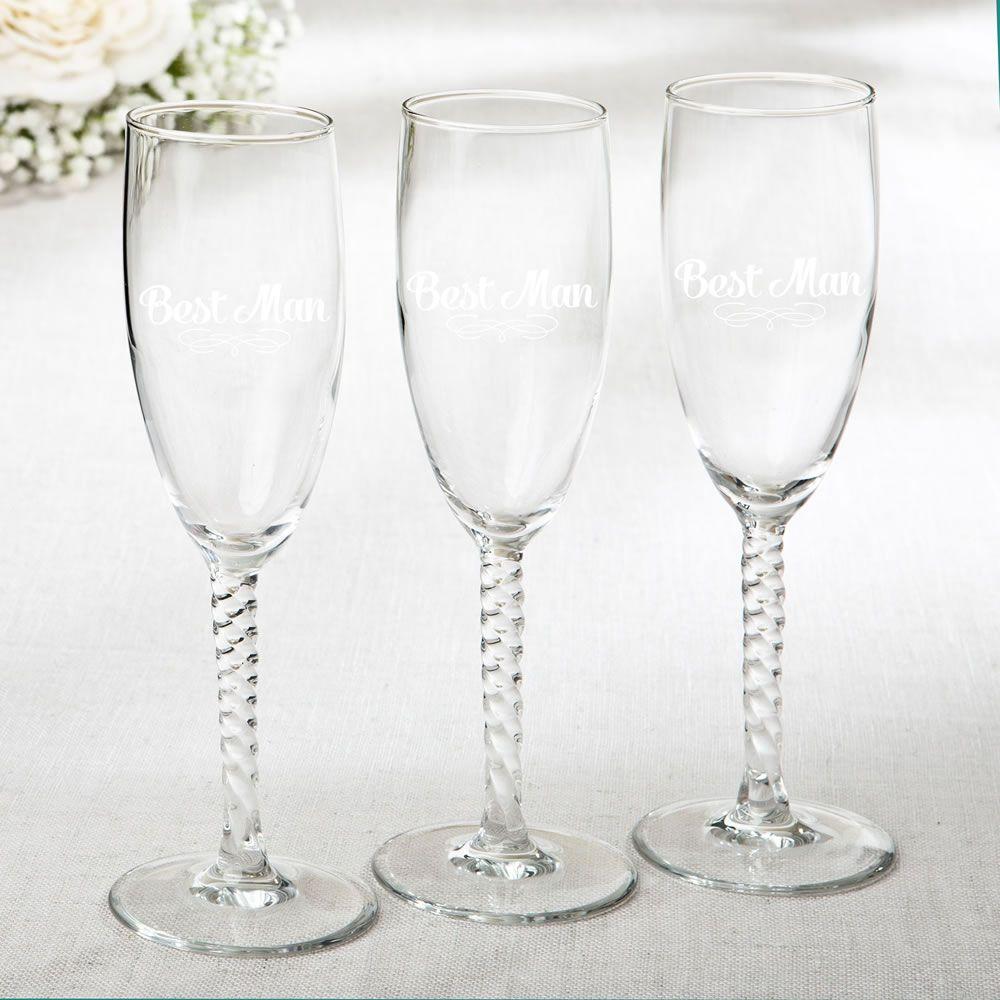 ELEGANT CHAMPAGNE FLUTES - BEST MAN DESIGN | Champagne flutes ...
