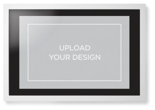 Upload Your Own Design Framed Print, White, Contemporary, Black, Black, Single piece, 20 x 30 inches