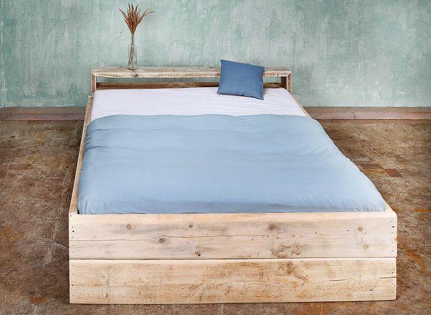 Betten   Bauholz Bett Laura 160 X 200 Cm   Ein Designerstück Von  FraaiBerlin Bei DaWanda