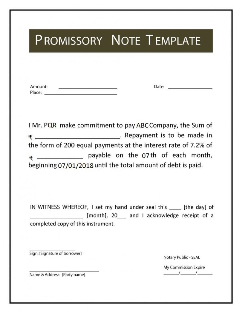 Printable Promissory Note Meaning Format Example Types Features Short Term Promissory Note Te Notes Template Promissory Note Payoff Letter