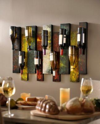 Offset Panel Wine Bottle Holder Wine Decor Wine Theme Kitchen Wine Bottle Holders