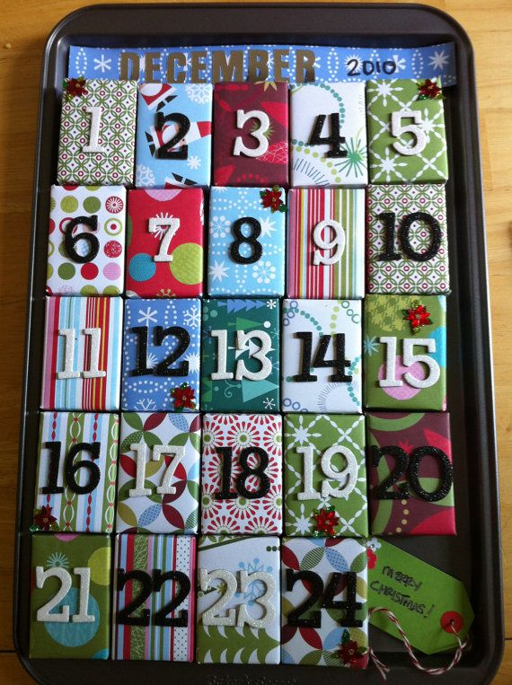 Advent Calendar Christmas Countdown Gift by SocialButterflyDsign, $23.00 - Advent Calendar Christmas Countdown Gift Boxes And Decoration
